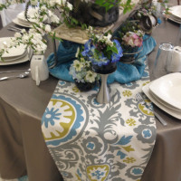 Vinyl Table Linen with a Decorative Runner