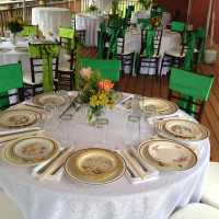 Use chair sashes to add a little color