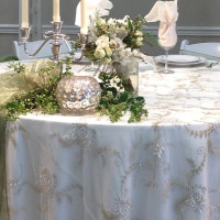 Antique Gold Sheer Overlay