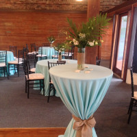 Polyester Table Linen with Burlap Sash