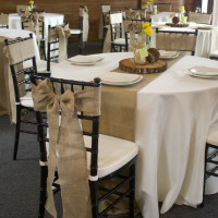 Ivory Polyester Table Linen